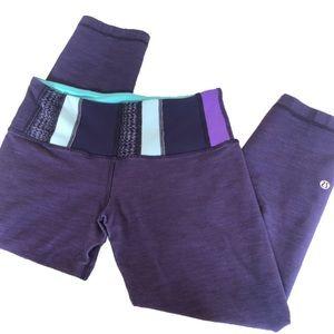 Lululemon | Purple Cropped capris leggings